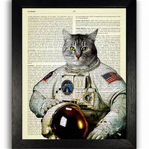 Cat in Nasa Space Suit Wall Art, Space from TopLondonPrints on