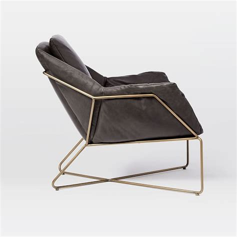 origami leather lounge chair west elm