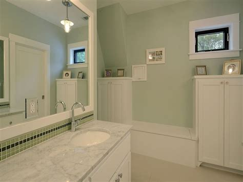 Bathroom With Light Green Walls  New House Ideas