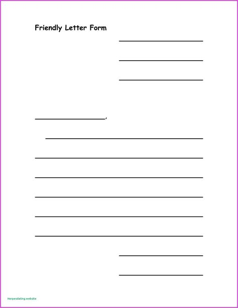 friendly letter format printable world  reference