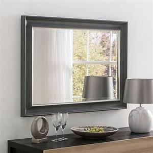 Decorative, Rectangular, Grey, Wall, Mirror