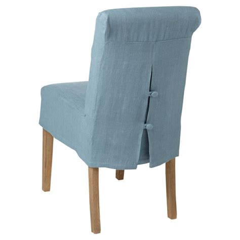 linen slip cover for echo low back dining chair oka