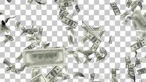 $100 Money Bills Raining Down From Top to Bottom - YouTube