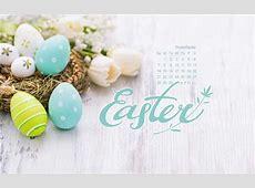 April 2019 Easter Eggs Desktop Calendar Free April