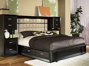 Lit 140 Avec Rangement : la t te de lit avec rangement un gain d 39 espace d co ~ Teatrodelosmanantiales.com Idées de Décoration