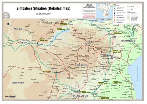 zimbabwe situation detailed map   june