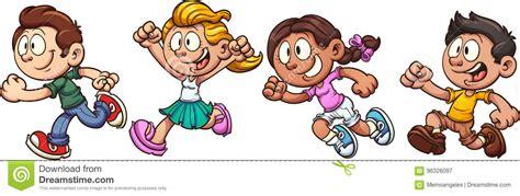 Kids Running Stock Illustrations