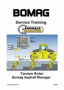 Bomag Asphalt Manager Tandem Roller Service Training