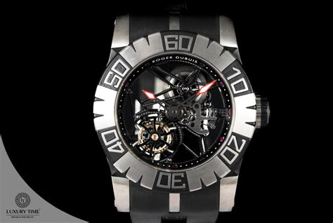 Roger Dubuis Matic Brown Rubber s watches roger dubuis easy diver skeleton flying