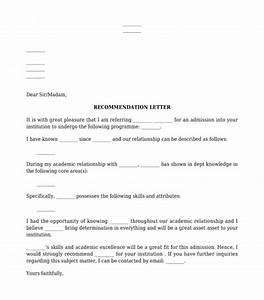 General Recommendation Letter Sample Template