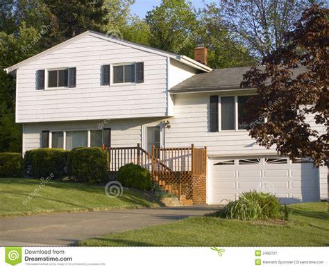 split level floor plans 1970 split level house stock image image of garage