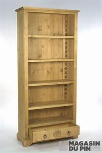 Bibliothèque En Pin : vente de meubles en pin pic a ch ne et teck le magasin du pin ~ Teatrodelosmanantiales.com Idées de Décoration