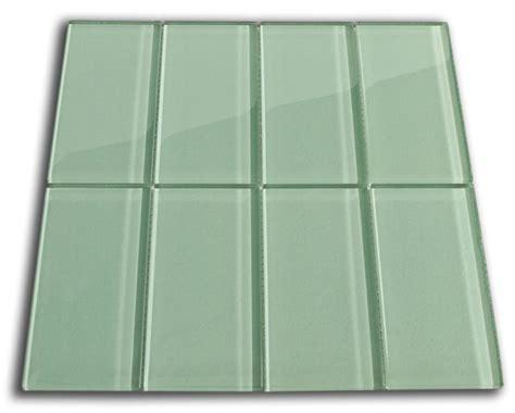 Sage Green Glass Subway Tile 3x6 For Backsplashes, Showers