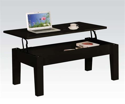 Black Modern Lift-top Coffee Table