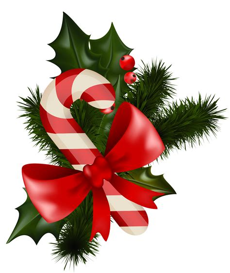 transparent christmas candy cane with mistletoe clipart best clipart best