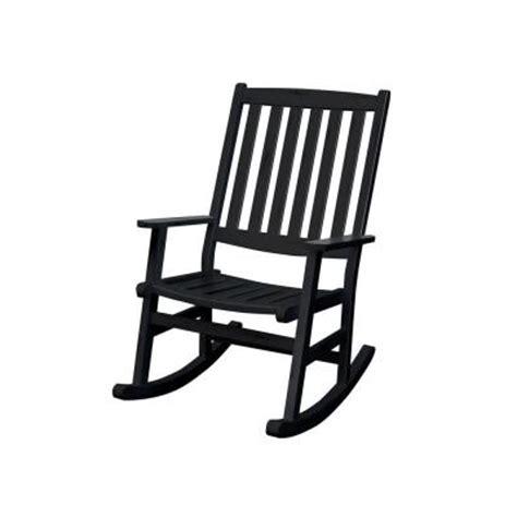 home styles bali hai black patio rocking chair 5660 584