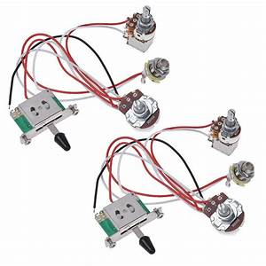Electric Guitar Wiring Harness Prewired Kit 3 Way Toggle