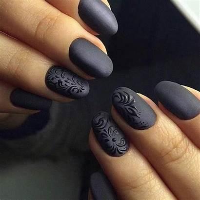 Nails Matte Dark Manicure Kamdora Designs Week