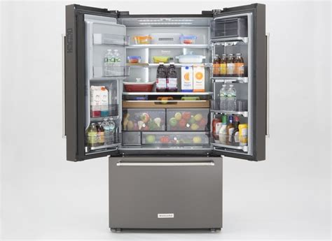 Kitchenaid Refrigerator Reliability by Kitchenaid Krfc704fbs Refrigerator Reviews Consumer Reports