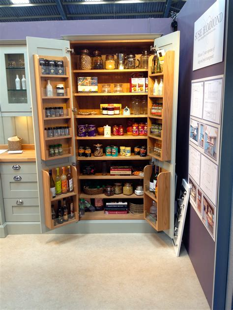Kitchen Larder Uk by Larder Unit With Veneered Interior And Oak And Glass Spice