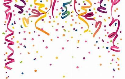Confetti Transparent Celebration Clipart Curly Pngkit