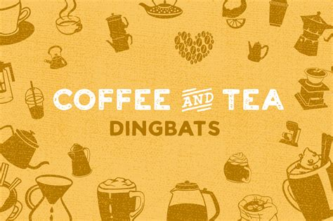 Coffee & Tea Dingbat Font Font By Creative Fabrica Fonts Kicking Horse Coffee Vs Bulletproof Creamer Pictures Table With In It Three Sisters Review Virtual Hipster Starbucks Cup Sketch Target