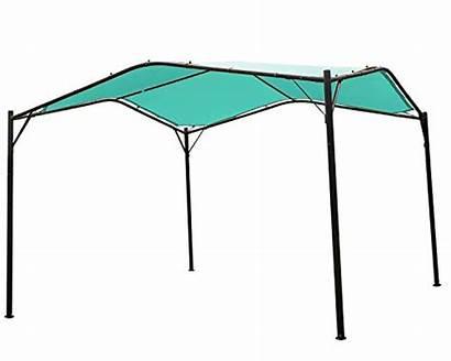 Outdoor Gazebo Swan Backyard Iron Canopy Patio