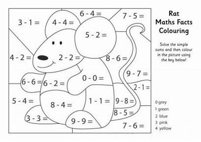 Coloring Math Maths Colouring Pages Rat Facts