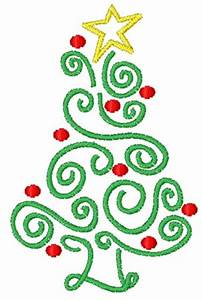Concord Collections Embroidery Design Swirly Christmas