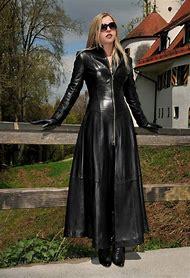 Long Leather Coat Woman