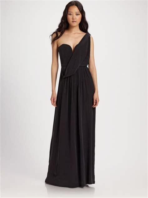 zimmermann silk drape dress zimmermann ballerina silk drape maxi dress in black lyst