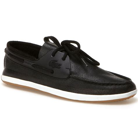 Lacoste Black Boat Shoes lacoste landsailing boat shoes tdf fashion