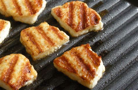 grilled  barbecued halloumi cheese recipe