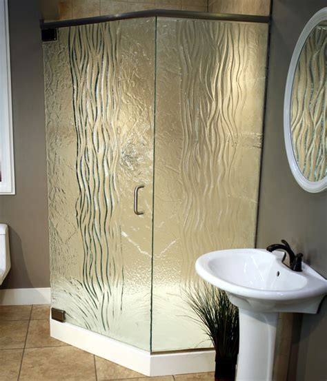 Frosted and Textured Glass Options for Shower Doors