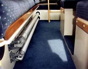 Spinnaker  Whisker Pole Storage Under Starboard Seat