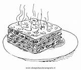 Lasagna Pages Colouring Picolour sketch template