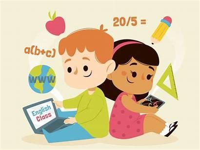 Ligne Cours Enfants Kinder Proeves Unterricht Ayant