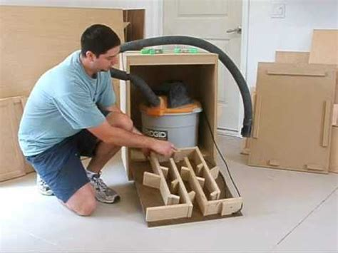 Homemade Wood Cabinet Cleaner by Shop Vac Silencer Part 1 Youtube