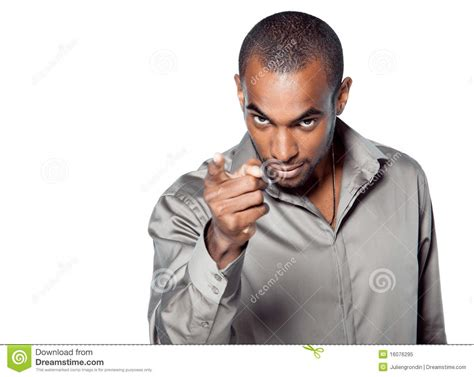 black mens black pointing stock image image of gestures