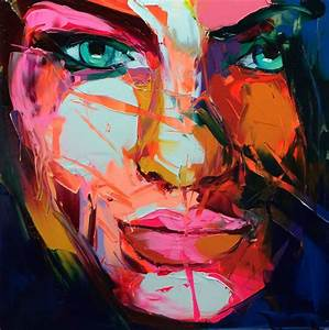Wall Art Painting Knife Abstract Face Painting by