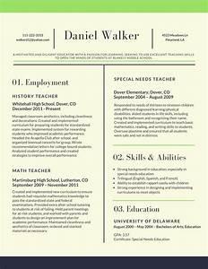 Resume Samples for Teachers 2018