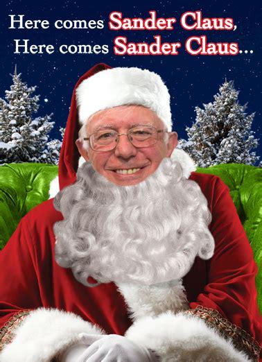 funny christmas card sander claus  cardfoolcom