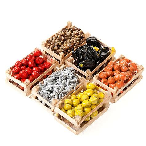 cassette frutta cassette di frutta verdura pesce accessori presepi