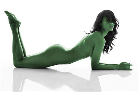 Zoe Saldana As Gamora From The Film Guardians Of The