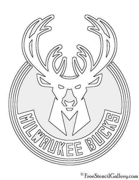 nba milwaukee bucks logo stencil  stencil gallery