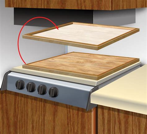 laminate flooring stove i used some leftover laminate flooring to make a stove cover in my motorhome it makes for