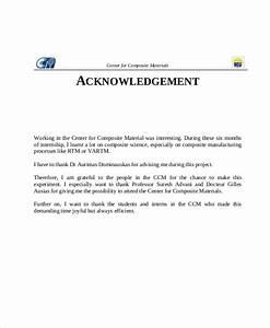 8  Sample Acknowledgment Report