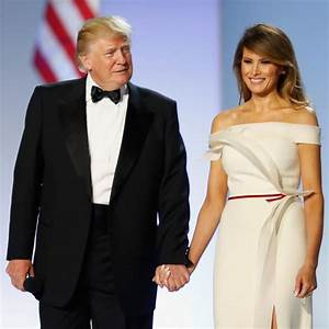 Melania trump en robe blanche herve pierre au bal de l for Robe melania trump investiture