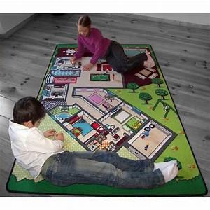 Tapis Jeu Enfant : tapis de jeu la maison pour chambre enfant en polyester par tapitom ~ Teatrodelosmanantiales.com Idées de Décoration