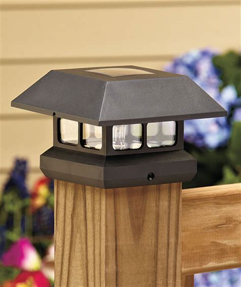 solar powered led fence post cap light ebay